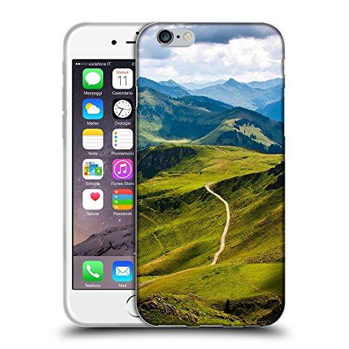 """Just Phone Cases Coque de Protection TPU Silicone Case pour // V00004065 Montagne ski journée ensoleillée // Apple iPhone 6 6S 6G PLUS 5.5"""""""