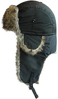 98409ef8 Barbour Men's Fleece Lined Hunting Waxed Hat - Black: Amazon.co.uk ...