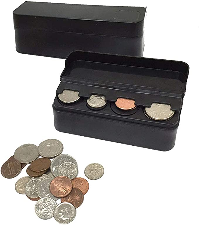 JAVOedge Cash Cup Storage Holder for Pens 2 Pack Coins Fits in Any Cars RV Standard Cup Holders Size Trucks