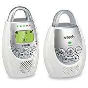 VTech BA72211GY Gray Audio Baby Monitor with up to 1,000 ft of Range, Vibrating Sound-Alert, Talk Back Intercom & Night Light Loop