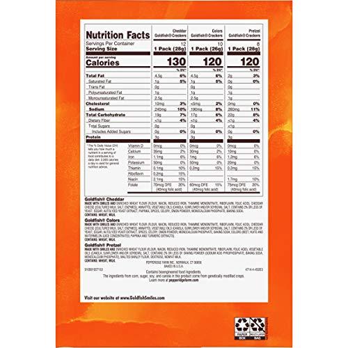 Pepperidge Farm Goldfish Crackers Big Smiles Variety Pack Box, 30-count Snack Packs