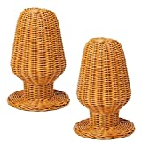 Comolife Fashionable&Light weight Natural Rattan Hat Display Stand , 2 pieces
