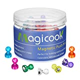 Magicook 80PCS Color Magnetic Push Pins Assorted, Strong Magnetism, Prefect for Holding Stuff on Fridge, Calendars, Photo, Whiteboards & Map