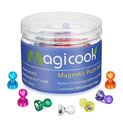 Magicook 80 imanes de Colores, imanes de Nevera, imanes para Oficina, Pins magnéticos, Figuras magnéticas, peones...