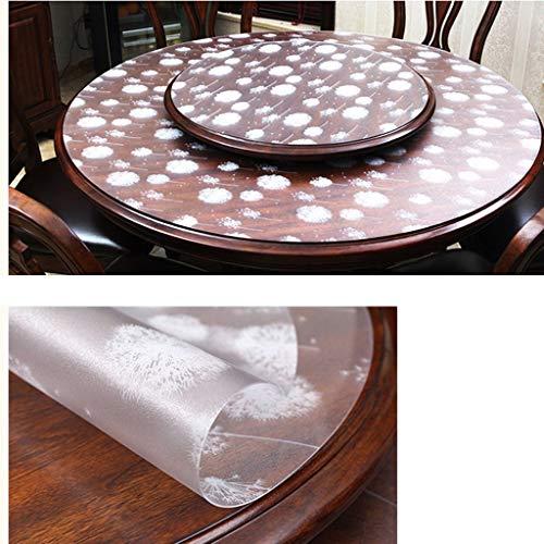 Ronde-80cm D SED Tapis de Table de Restaurant de ménage, Nappe de Table Basse , Nappe en Plastique de PVC de nappes Facile à Nettoyer Nappe imperméable Anti-brûlante en Verre Doux Taille facultative Taille Couleur