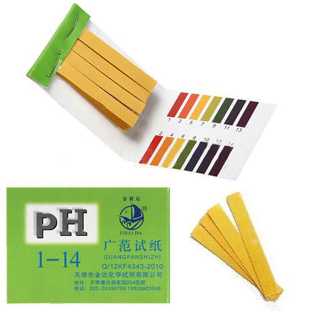 flybuild 80 Strips Ph 1-14 Test Paper Extensive Test Paper Litmus Test Paper pH Test Strips,Universal Application for Saliva Urine Water Soil Testing