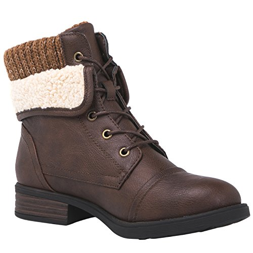 GLOBALWIN 1815 Women's Ankle Fashion Boots (10 M US Women's, 1815 Brown)