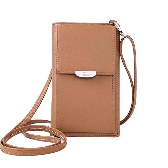 2cb1c276ce73 Kingto Small Leather Crossbody Cellphone Shoulder Bag for Women, Smartphone  Wallet Purse with Removable Strap for Shopping