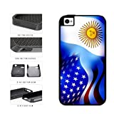 Argentina and USA Mixed Flag 2-Piece Dual Layer Phone Case Back Cover Apple iPhone 4 4s includes BleuReign(TM) Cloth and Warranty Label