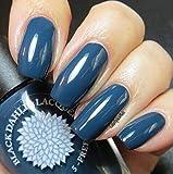 Moonlight Petals | Navy Blue Creme Nail Polish | by Black Dahlia Lacquer