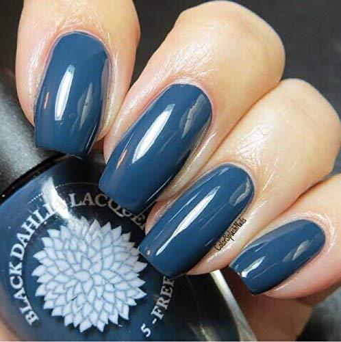 Moonlight Petals | Navy Blue Creme Nail Polish | by Black Dahlia Lacquer by Black Dahlia Lacquer LLC