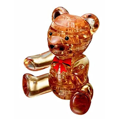Bepuzzled Original 3D Crystal Puzzle - Teddy Bear - Fun yet challenging brain teaser that will test your skills and imagination, For Ages 12+: Toys & Games