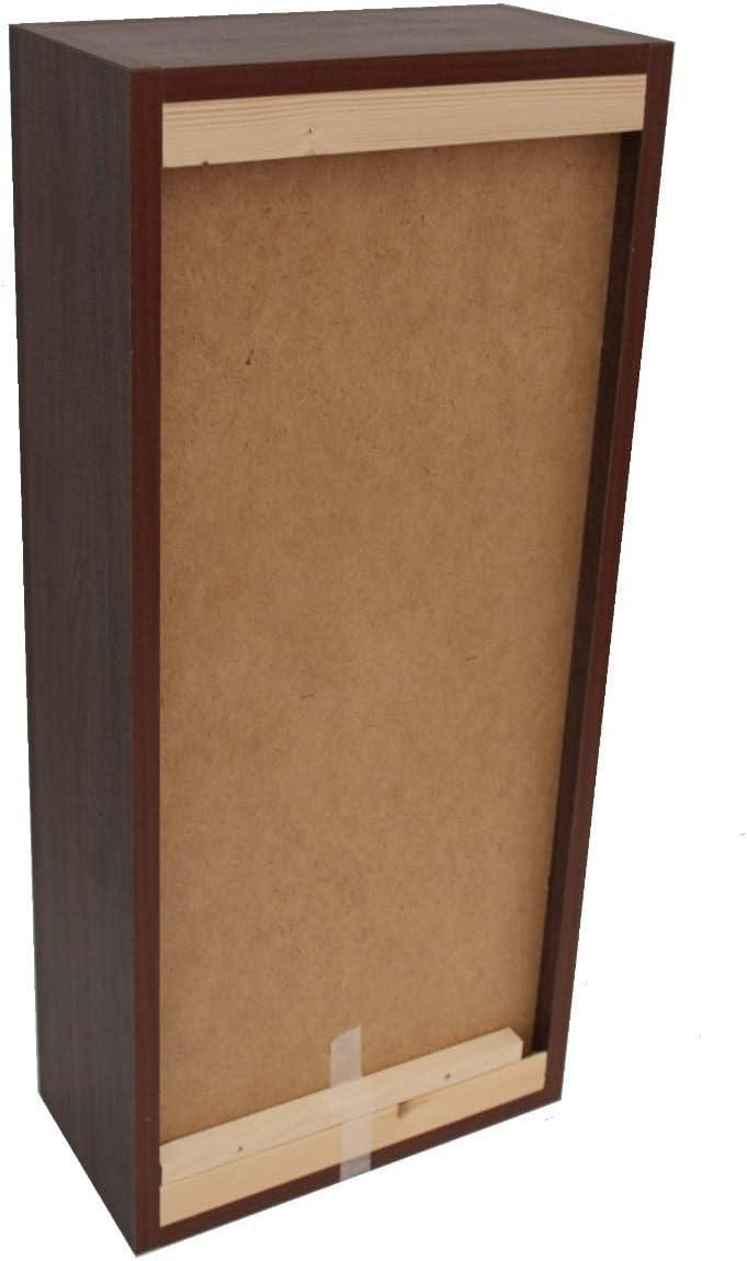 tft Pensile da Bagno 1 Anta Push 35x18x78,2 cm in Legno Ibiza Tabacco Scuro