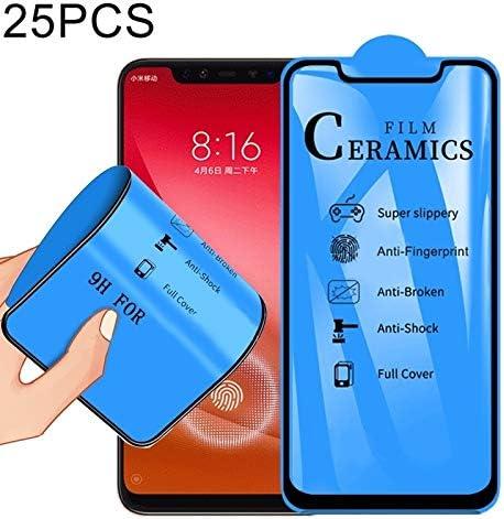 LGYD 25 PCS 2.5D Full Glue Full Cover Ceramics Film for Xiaomi Mi 8 Explorer Fingerprint Unlock is Supported