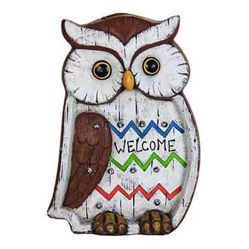 "Exhart Environmental Systems 10959 13"" Sol LED Owl Statue"