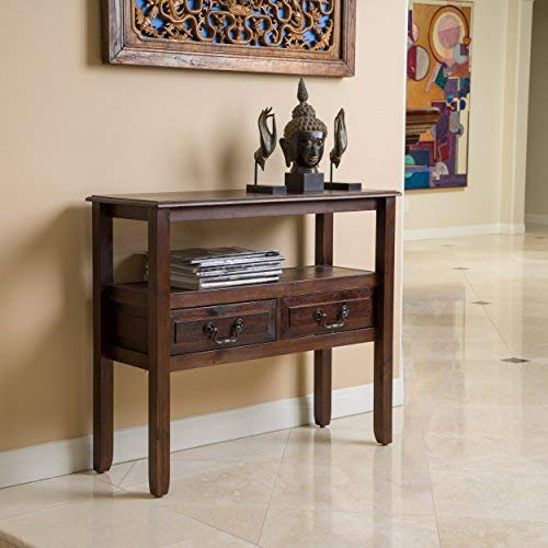 Christopher Knight Home Noah Brown Mahogany Wood Accent Table