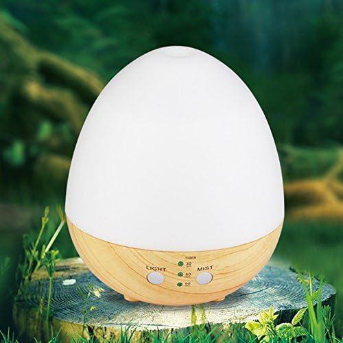 NAttnJf Purificatore dAria del diffusore della foschia di Aromatherapy dellumidificatore di USB di Forma delluovo con la Luce del LED Bianca