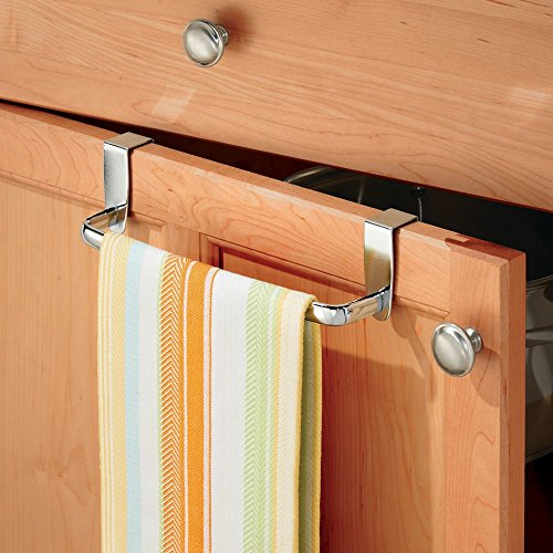 "InterDesign Axis Over-the-Cabinet Kitchen Dish Towel Bar Holder - 9"", Chrome chic"