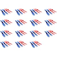 15 x Quantity of Hubsan X4 H107D Transparent Clear Blue and Red Propeller Blades Props Rotor Set 55mm Factory Units