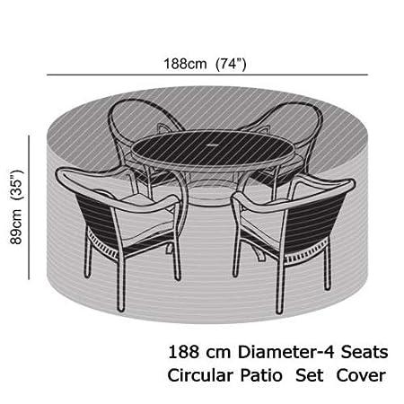 Impermeables dise/ño de Cuadros vtarp/® Color marr/ón Juego de Cubiertas para Muebles de jard/ín