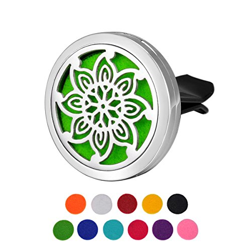 HOUSWEETY Car Air Freshener Aromatherapy Essential Oil Diffu
