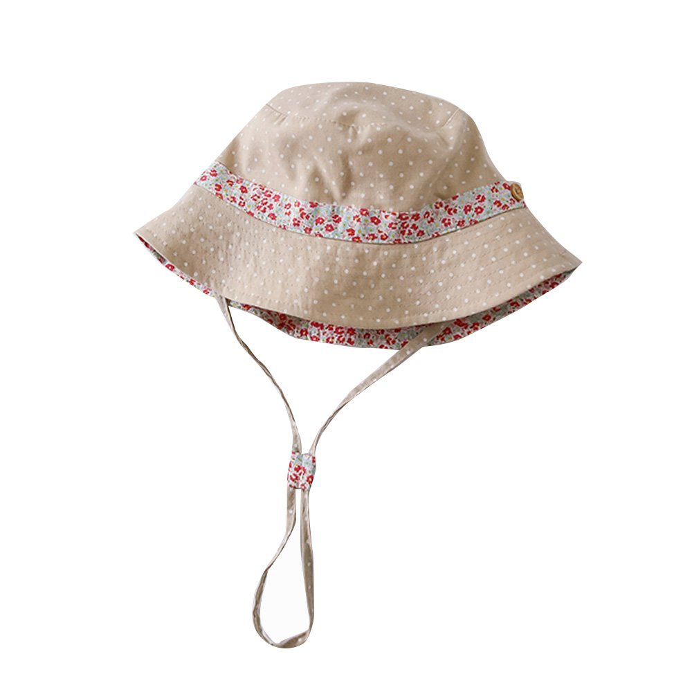 Toubaby Toddler Girl Bucket Hat Upf50+ Baby Sun Hat 0-6T (6-12M) by Toubaby