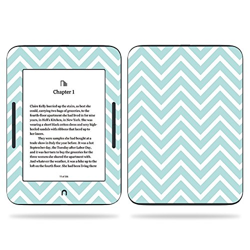 MightySkins Skin Compatible with Barnes & Noble Nook GlowLight 3 (2017) - Aqua Chevron | Protective, Durable, and Unique Vinyl Decal wrap Cover | Easy to Apply, Remove | Made in The USA