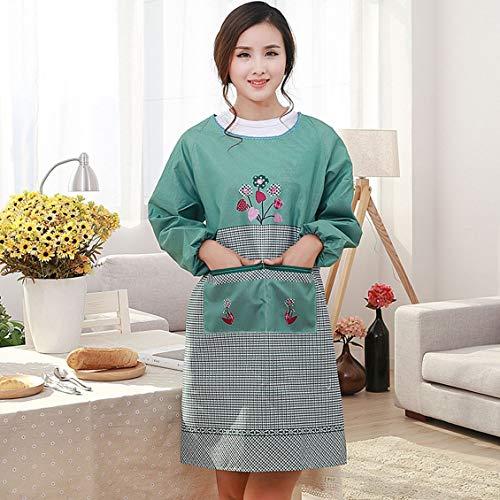 Adult Antifouling Apron Furniture Housekeeping Dustproof Long Sleeved Smock (Housekeeping Furniture)
