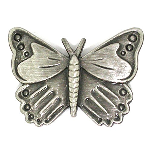 PinMart's Antique Silver Butterfly Animal Lover Lapel Pin