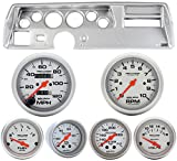 Classic Dash 104701312 Chevelle SS Silver Dash Carrier Panel w AM Ultra Lite Mechanical Gauges TR