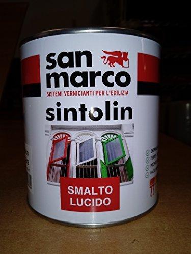 Smalto Sintetico Antiruggine San Marco Colore Bianco Lucido Brillante  Confezione Da 2,5 Lt.