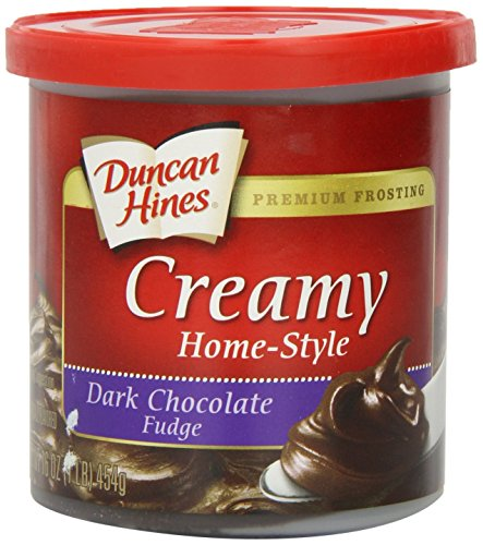 (Duncan Hines Creamy Home-Style Frosting, Dark Chocolate Fudge, 16 Ounce )