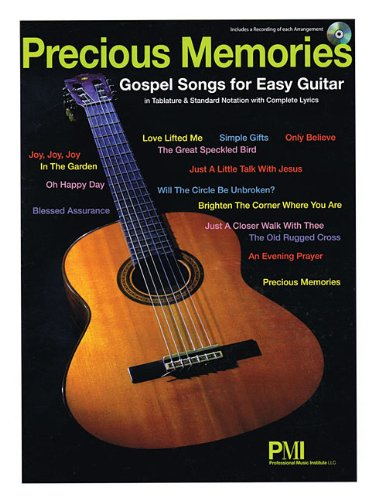 Precious Memories Gospel Songs For Easy Guitar (Book/Cd)