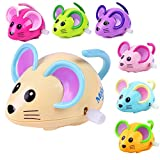 Wcysin 3 Pieces Wind Up Toy Mouse, Cute Clockwork Classic Baby Toddler Kids Toy Random Colors