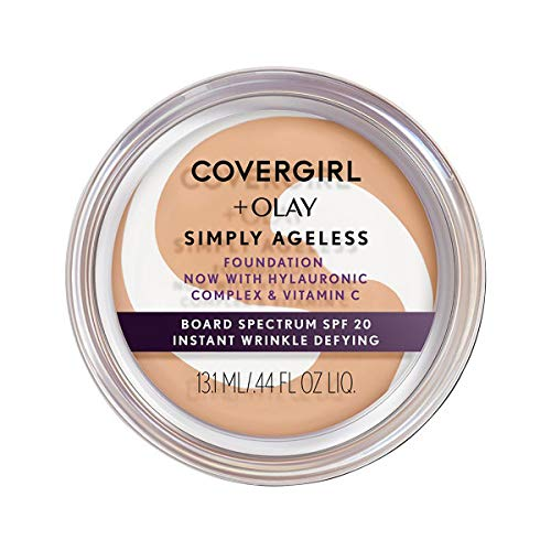 Covergirl & Olay Simply Ageless Instant Wrinkle-Defying Foundation, 255 Soft Honey