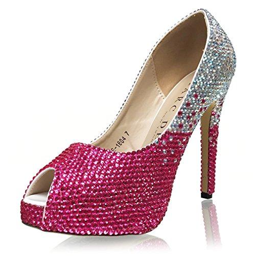 Marc Defang New York Handmade Luxury Bridal Crystal Ombre Pumps Q2sF6