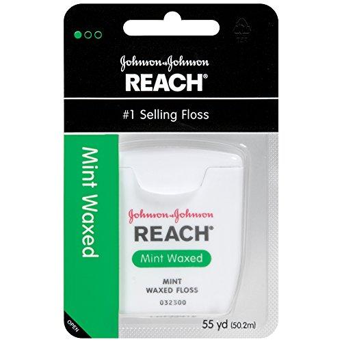 Reach Mint Waxed Dental Floss, 55 Yards (Pack of 6)