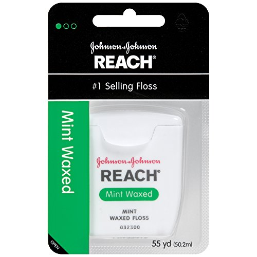 Reach Mint Waxed Dental Floss, 55 Yards (Pack of 6) (Waxed Dental Floss compare prices)