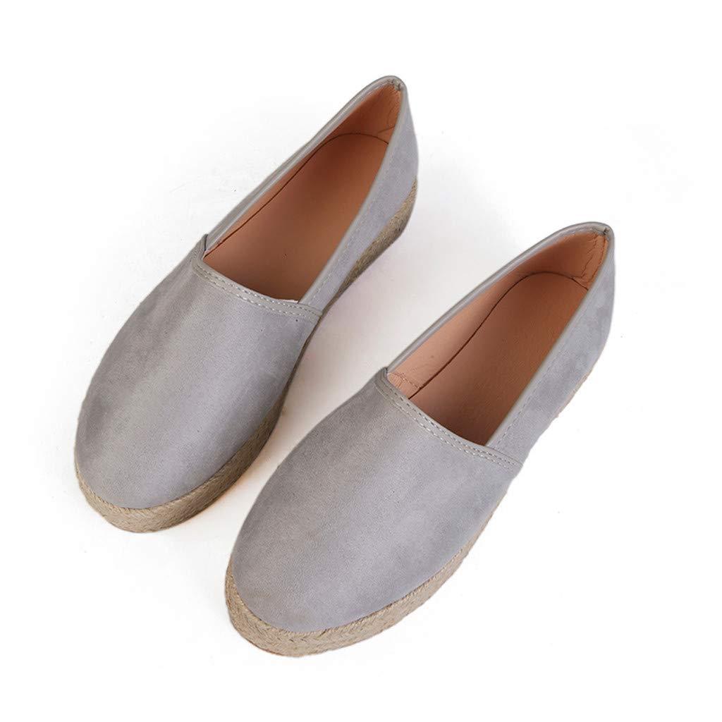 Womens Shoes Ladies Casual Roman Plus-Size Single Shoes Comfy Sport Flat Casual Pumps Shoes Walking Shoes