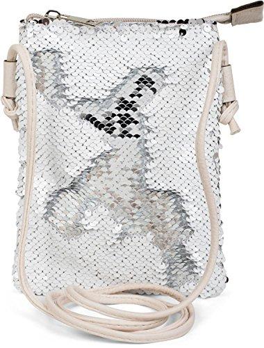 shoulder bag shoulder mini 02012240 bag with handbag styleBREAKER reverse sequins Silver Color ladies Silver White bag H5xUqwgR