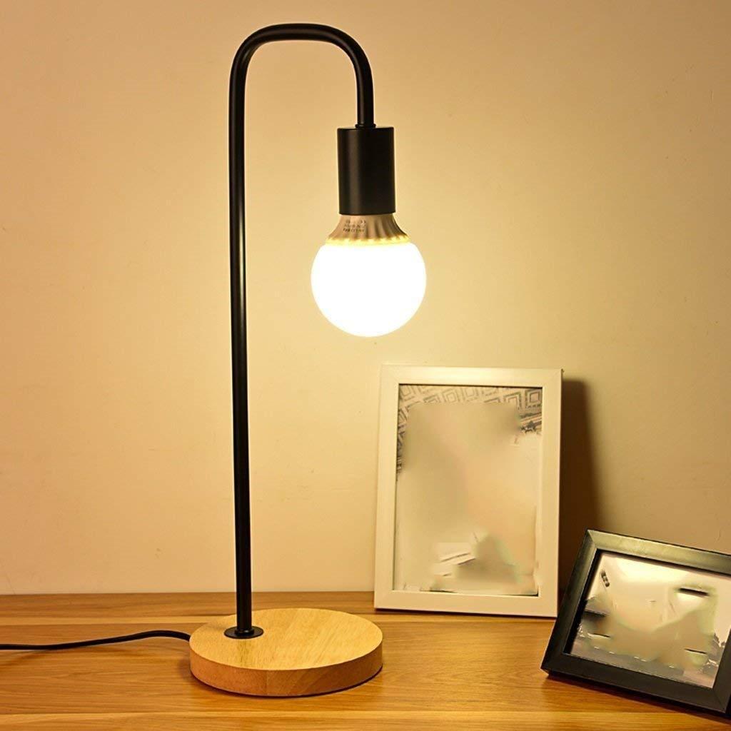 MEIDI Home Mode-Licht-kreatives Büro LED Schlafzimmer Nacht Auge um zu Lernen, Holz Tischlampe anzupassen