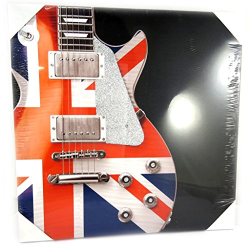 Canvas 'So British' guitar (40x40 cm (0.00''x15.75'') ). ($0.00 Furniture)