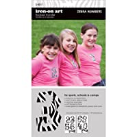 SEI 3-1/2-Inch Zebra Number Iron on Transfers, 2 Sheet