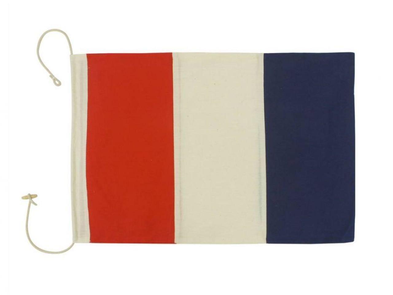 Hampton Nautical  Letter T Nautical Cloth Alphabet Flag, Decor, Home Decoration, Wall Art Tool, 20''