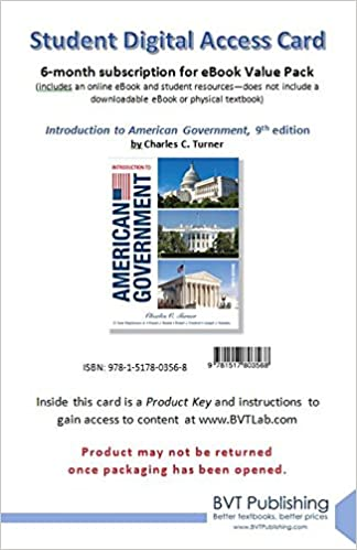 Introduction to american government 9th edition turner introduction to american government 9th edition turner 9781517803568 amazon books fandeluxe Choice Image