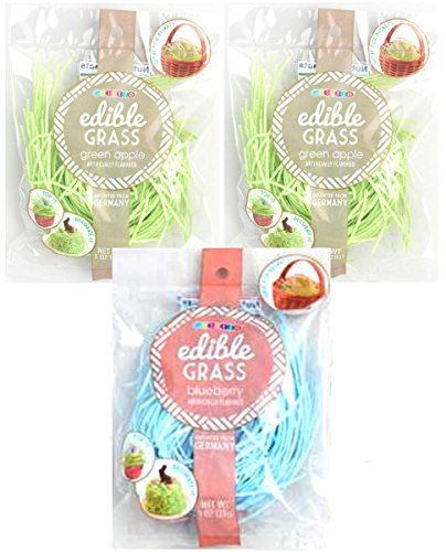 Edible Easter Grass Green Apple and Blue Blueberry Flavors