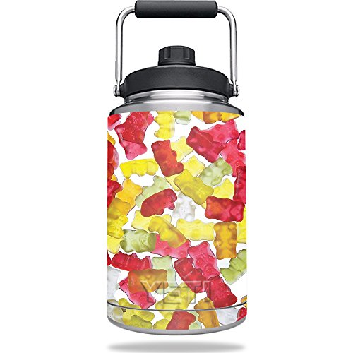 MightySkins Skin For Yeti One Gallon Jug - Gummy Bears | Protective, Durable, and Unique Vinyl Decal wrap cover | Easy To Apply, Remove, and Change Styles | Made in ()