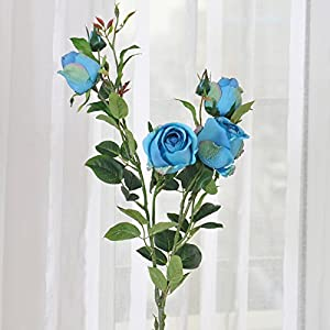 Emulation flower rose artificial flowers Silk flower dried flower drawing tables are decorated ceiling flower single wedding flower 18