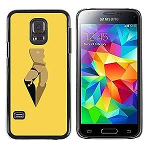 iKiki Tech / Estuche rígido - Woman Yellow Art Minimalist - Samsung Galaxy S5 Mini, SM-G800, NOT S5 REGULAR!