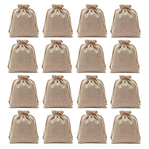 (Axe Sickle Set of 25 Burlap Bags 3.9 x 5.5 Inch Drawstring Gift Bags for Wedding Party and DIY Craft. )